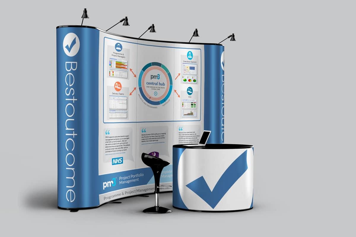 bestoutcome exhibition stand design 3m x3m