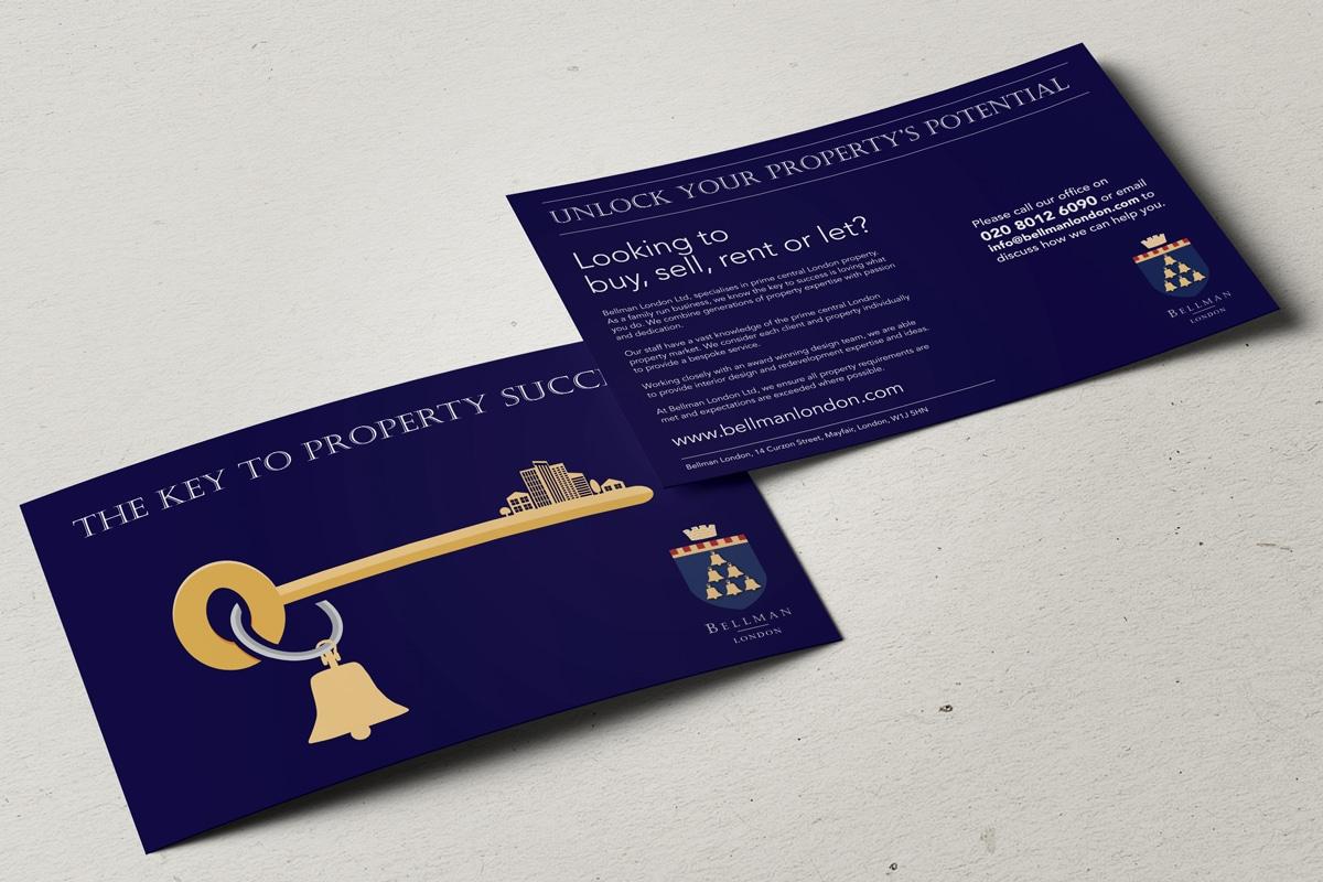 estate agent promotional leaflet design