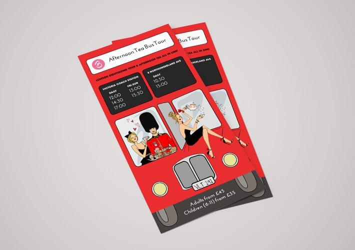 B Bakery Bus Tour leaflet design