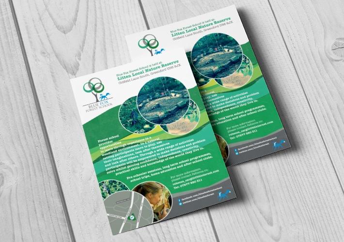 Blue Fox Forest leaflet design