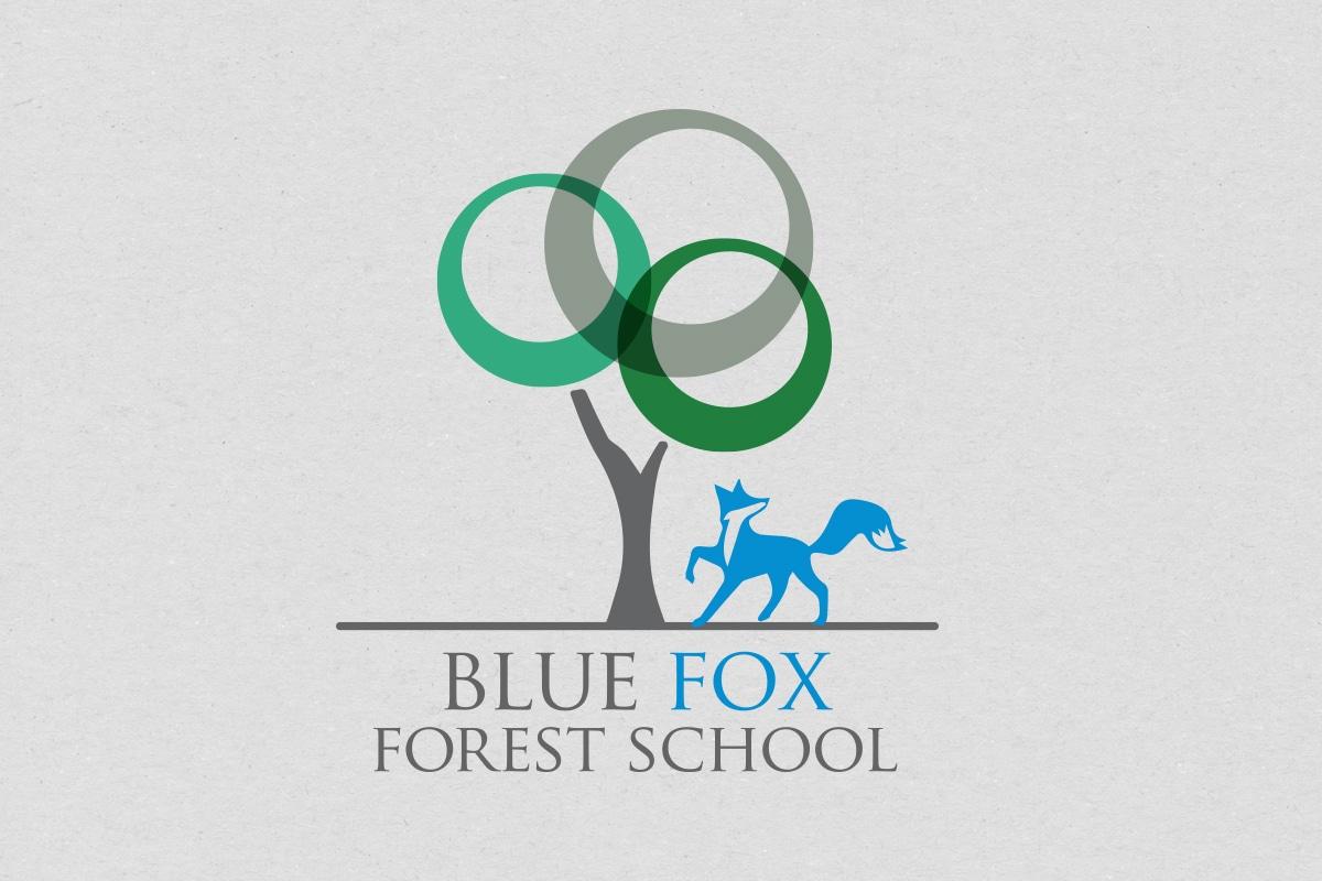Blue Fox Forest Logo Design