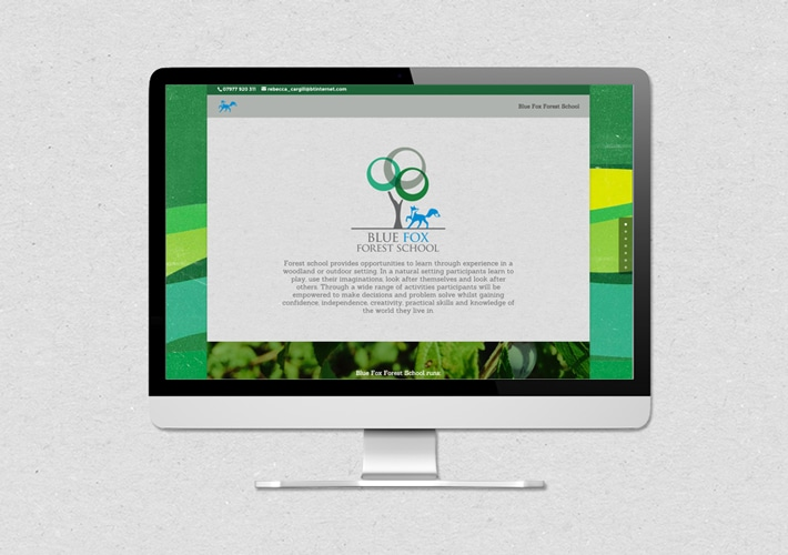 Blue Fox Forest website design and build