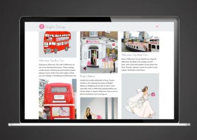 Brigit's Bakery website & print