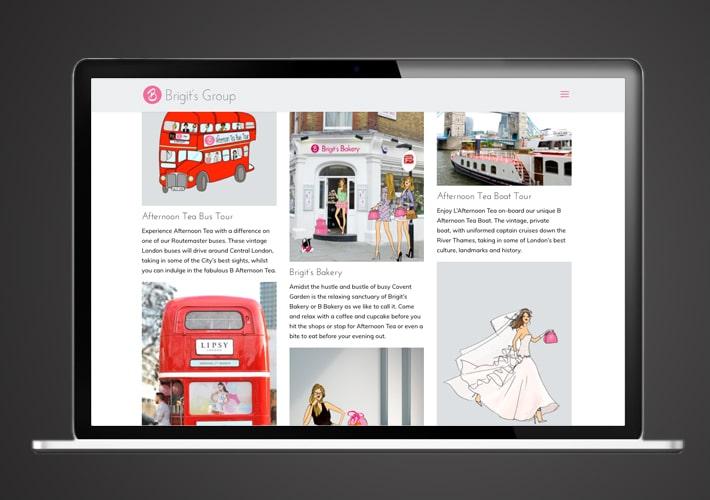 B Bakery website design and maintenance