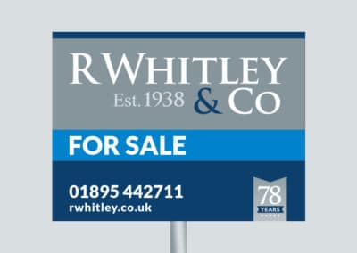 R Whitley branding, website & print