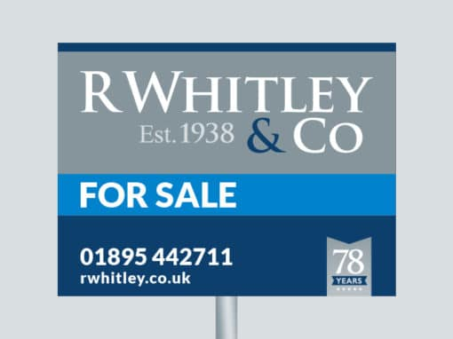R Whitley branding, website & print