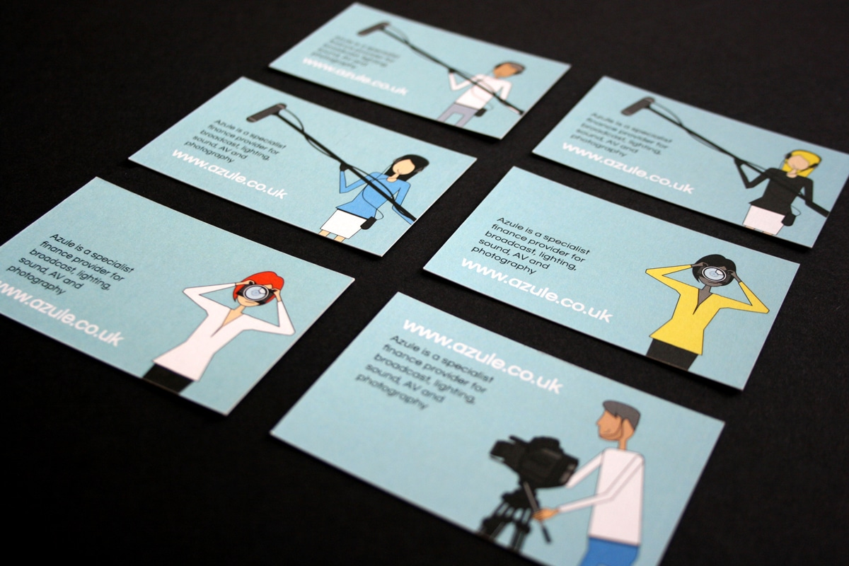 azule brand design illustrations for business cards