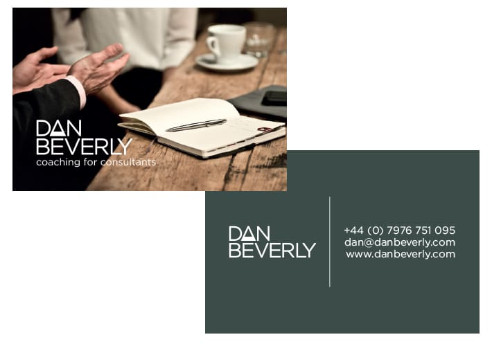 dan beverly business card design