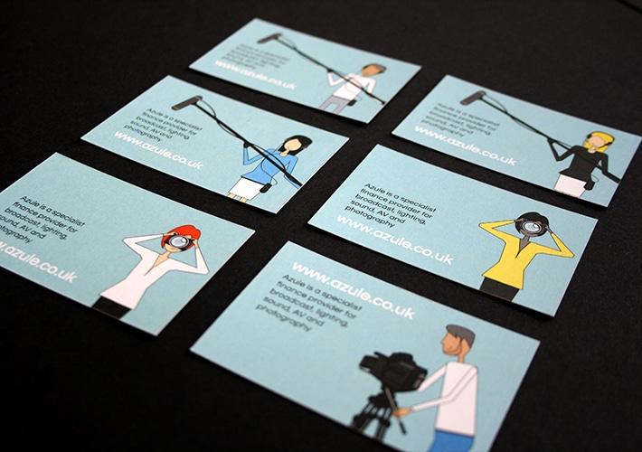 azule brand design business cards
