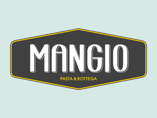 Mangio branding, website & print