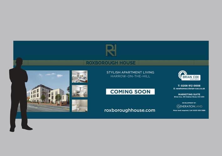 property development branding: hoarding design