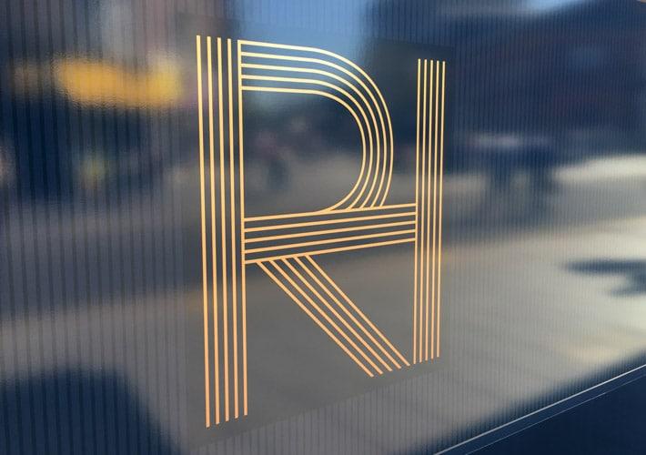 property development branding: marketing suite signage