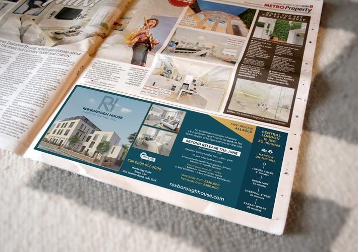 property development branding: metro advert design