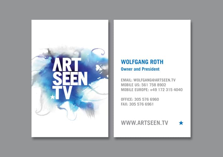 artseen tv stationary design