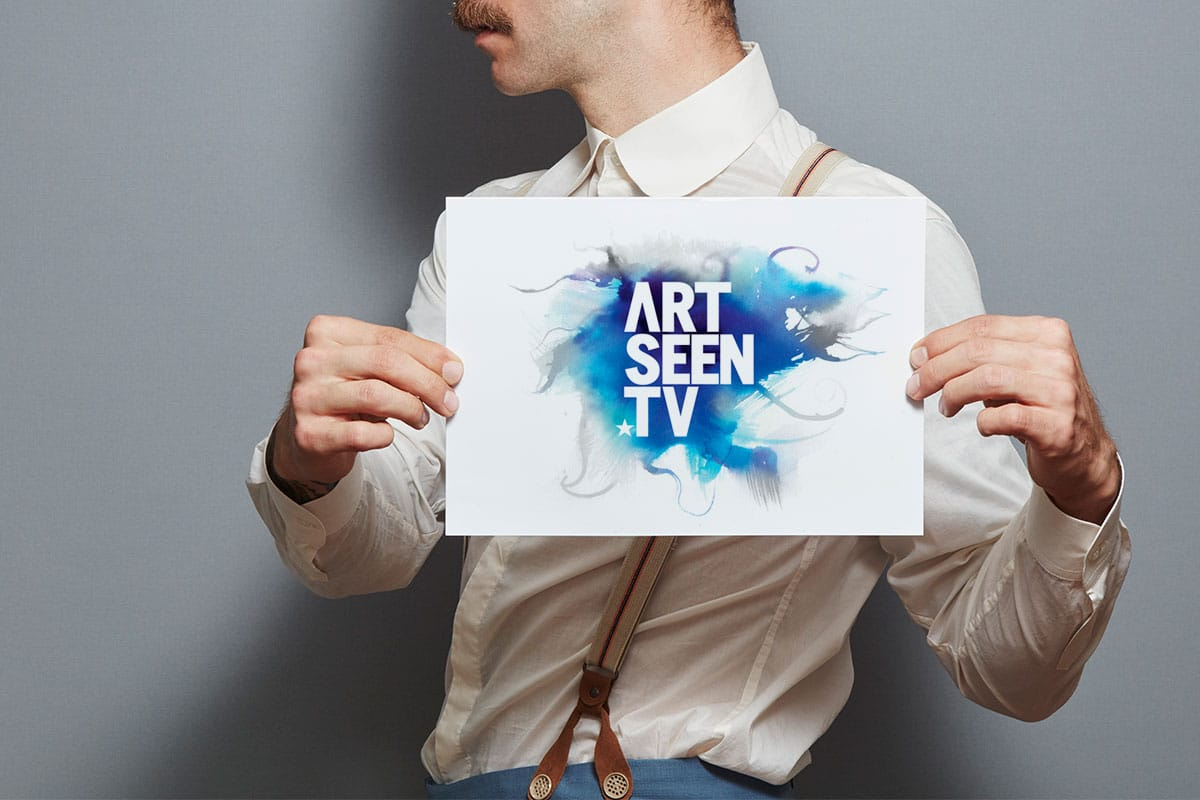 artseen tv branding design