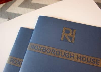 Roxborough House property development branding, print and advertisment
