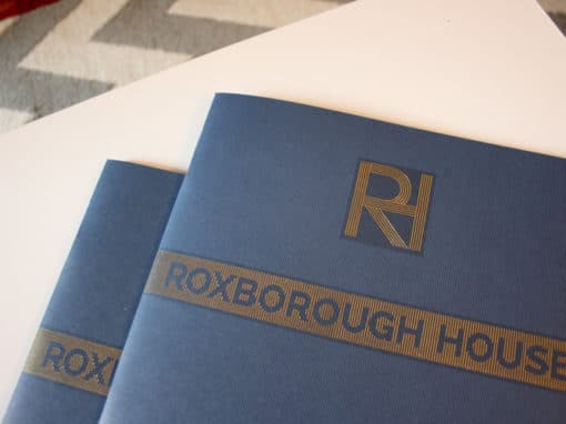 Roxborough House property development branding, print and advertisment