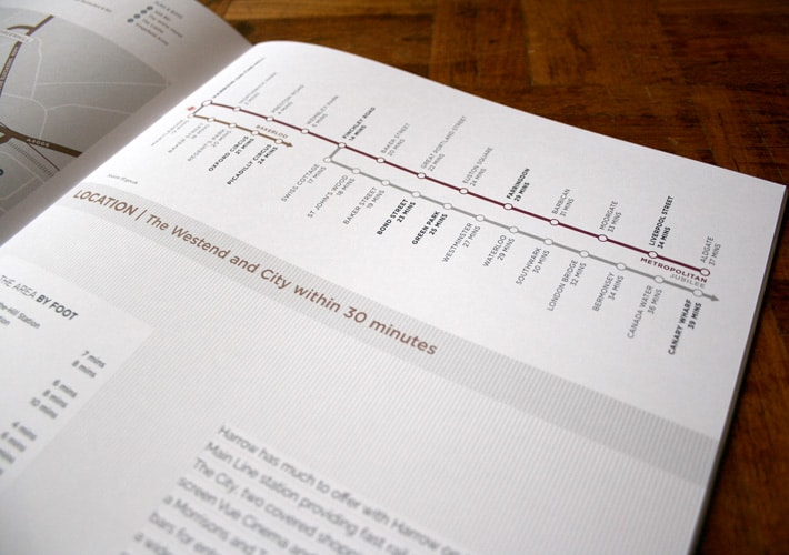 property development branding: brochure design
