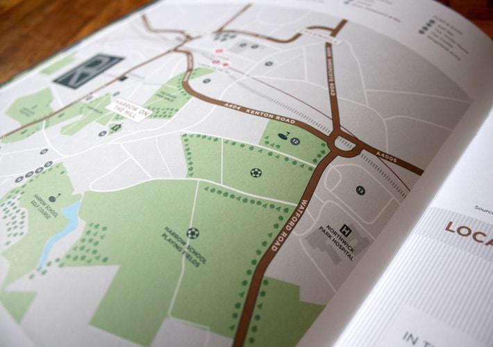 property development branding: map illustration
