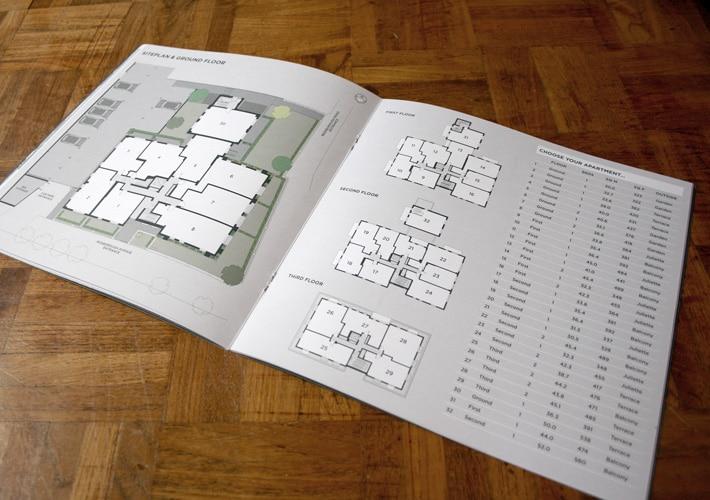 property development branding: styled floor plans