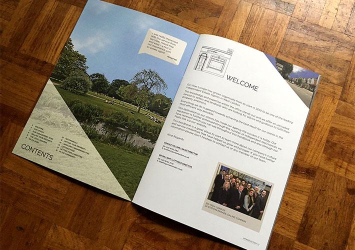 estate agent branding corporate brochure