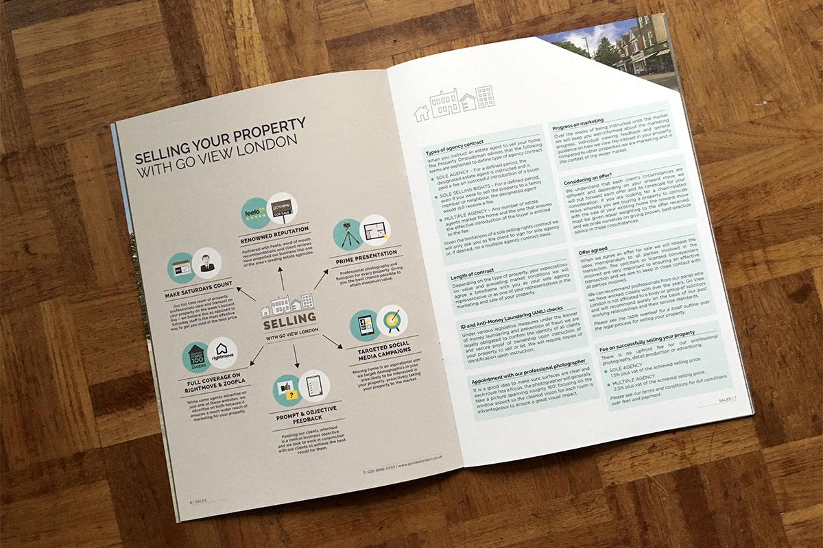 estate agent branding brochure design