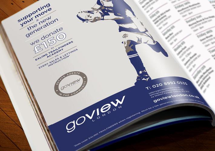 Go View Estate Agent Branding adverts trailfinders