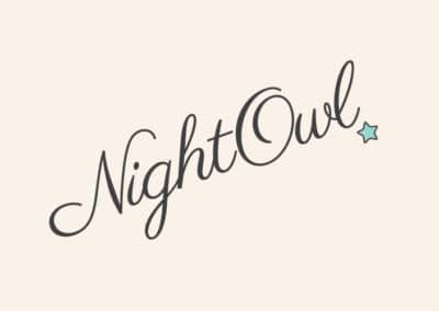 Nightowl Nannies branding, website & print