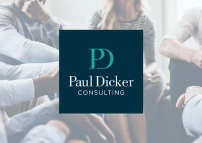 Paul Dicker Consulting branding & website design
