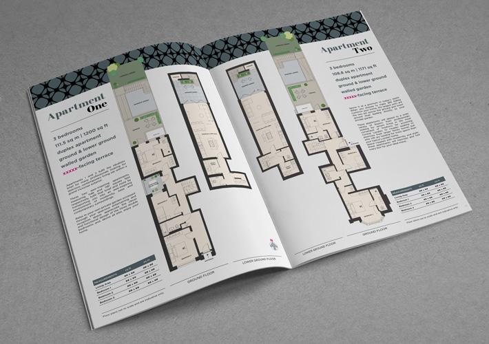 new property development floor plan and property brochure design