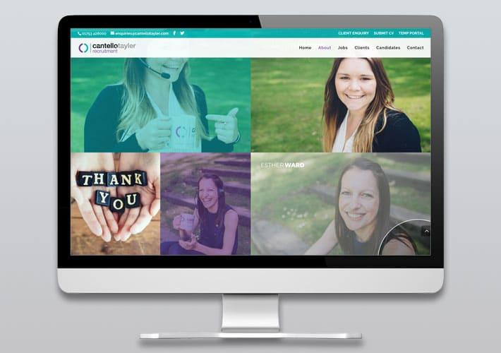 cantello tayler recruitment website design - meet the team