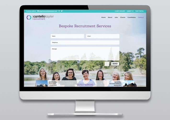 cantello tayler recruitment website design - contact