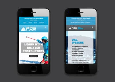 PDS Academy website design & brand refresh