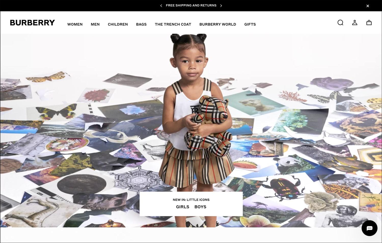 Brand visual identity Burberry