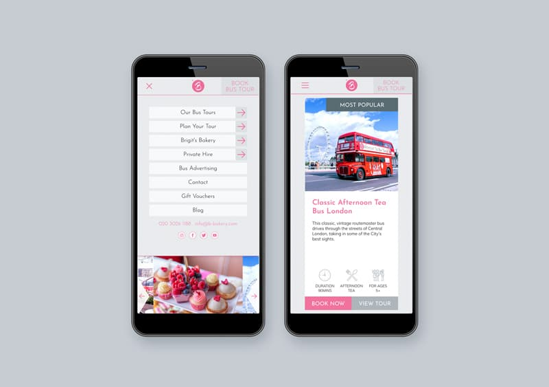 Brigit's Bakery restaurant website