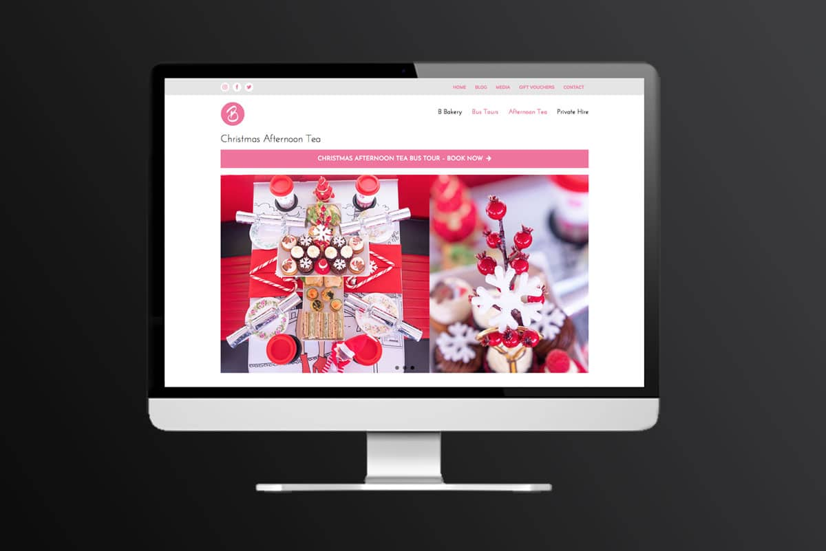 B Bakery website design and build