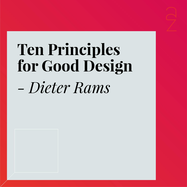 Ten Principles for Good Design