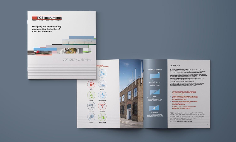 PCS Instruments rebrand brochure design