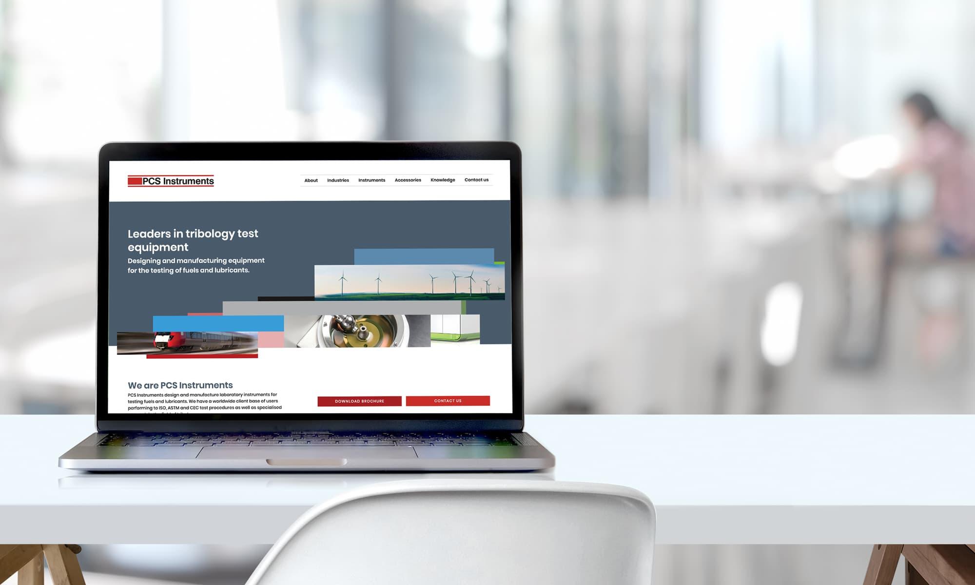 PCS Instruments website rebrand