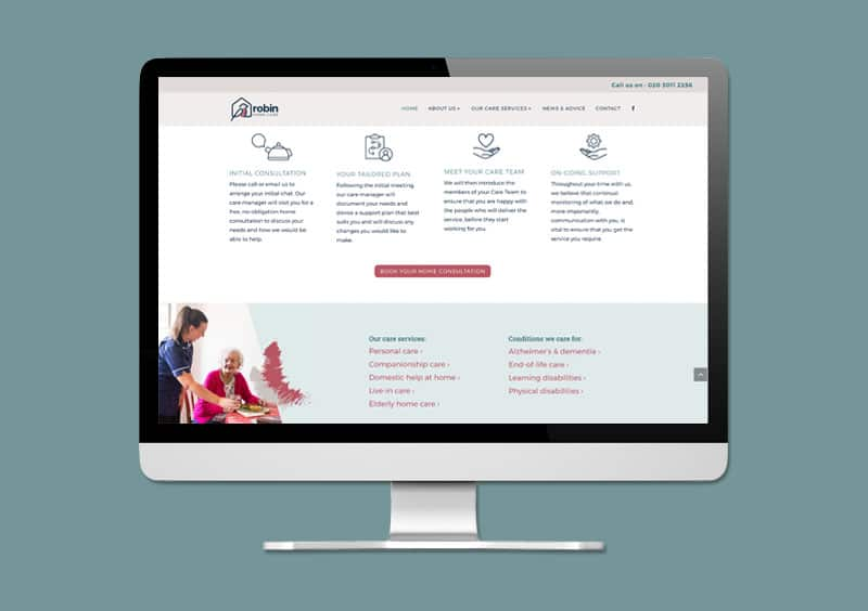 Robin Home Care Website