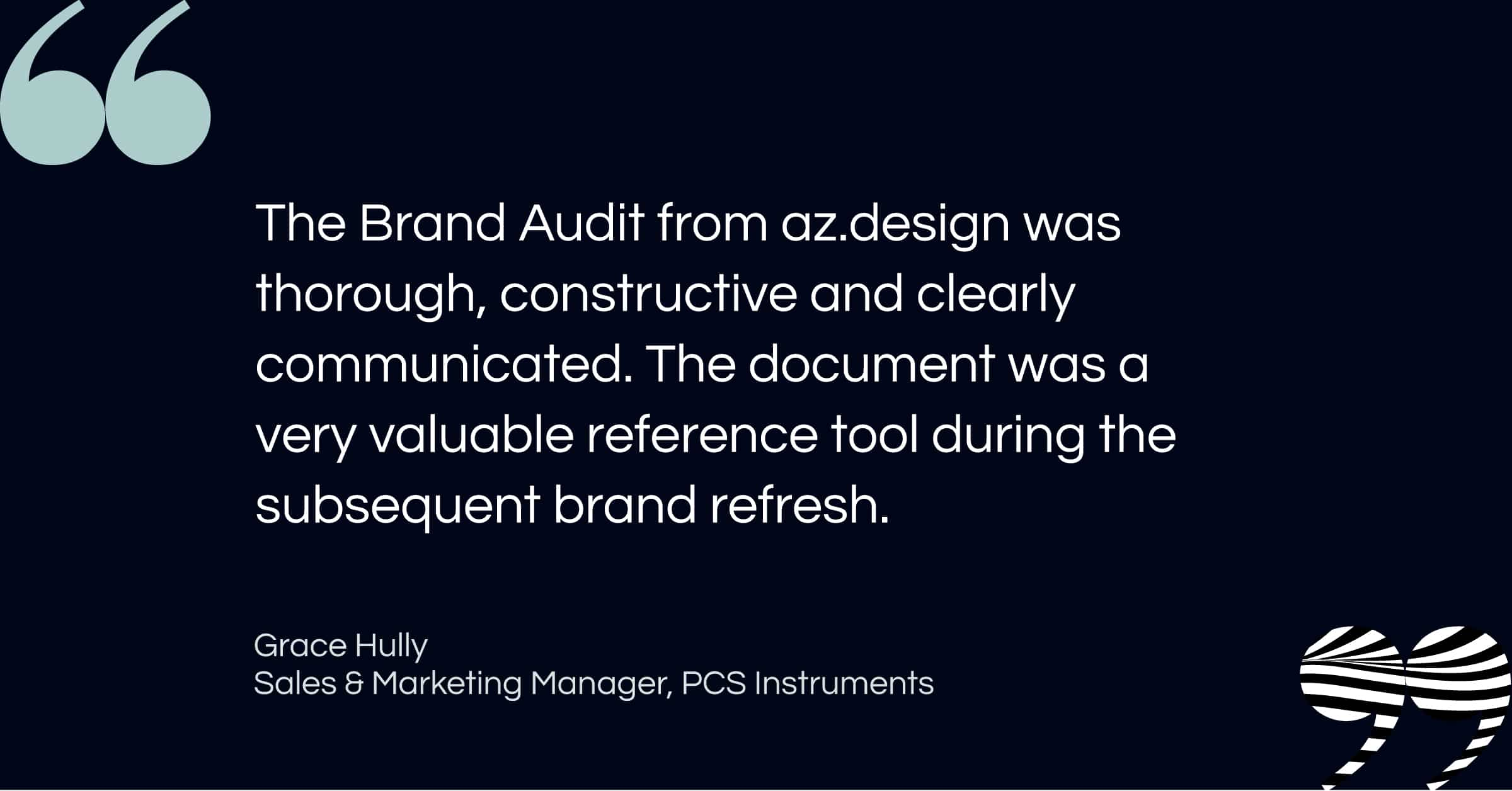 Business Brand Audit Testimonial