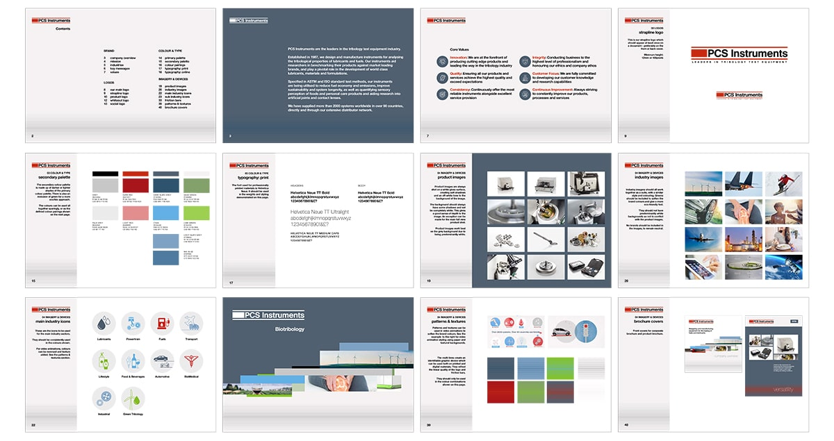 Mid-size business brand book example