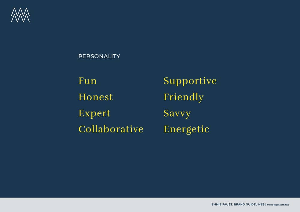 Business Growth Consultant branding: Brand Personality