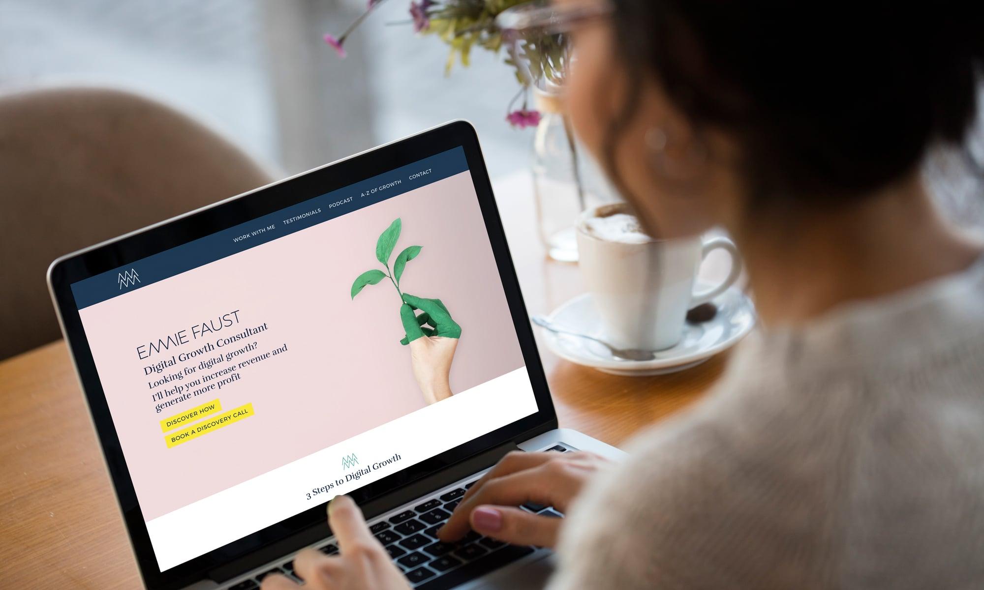 Emmie Faust website design & build