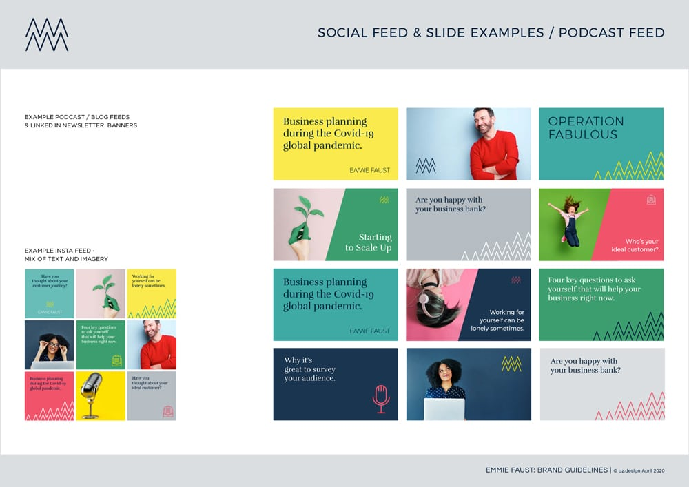 Emmie Faust Brand Guidelines Social