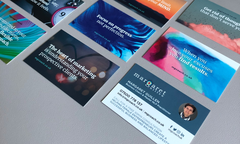 mgcoach business coach branding business cards