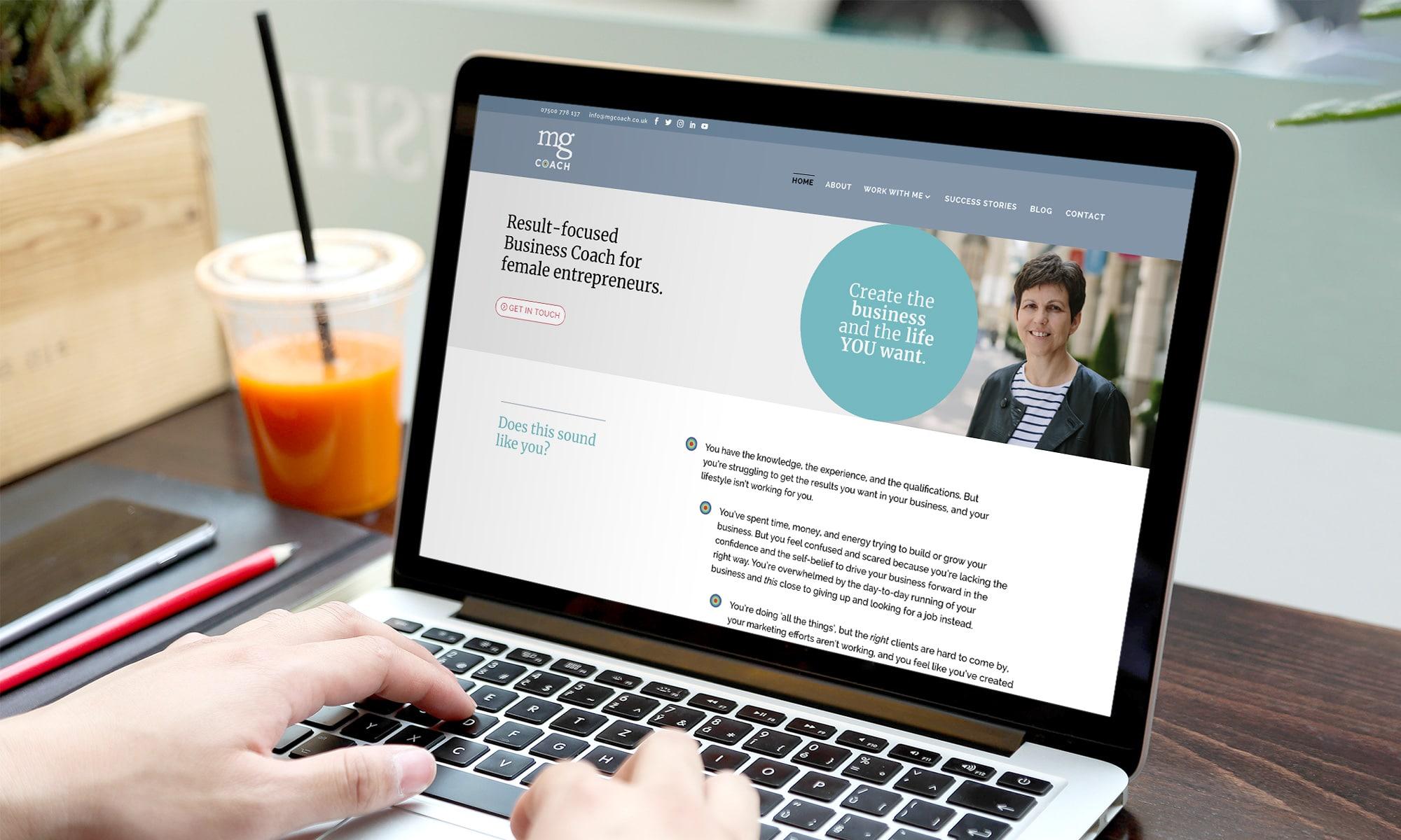 business coach branding and website
