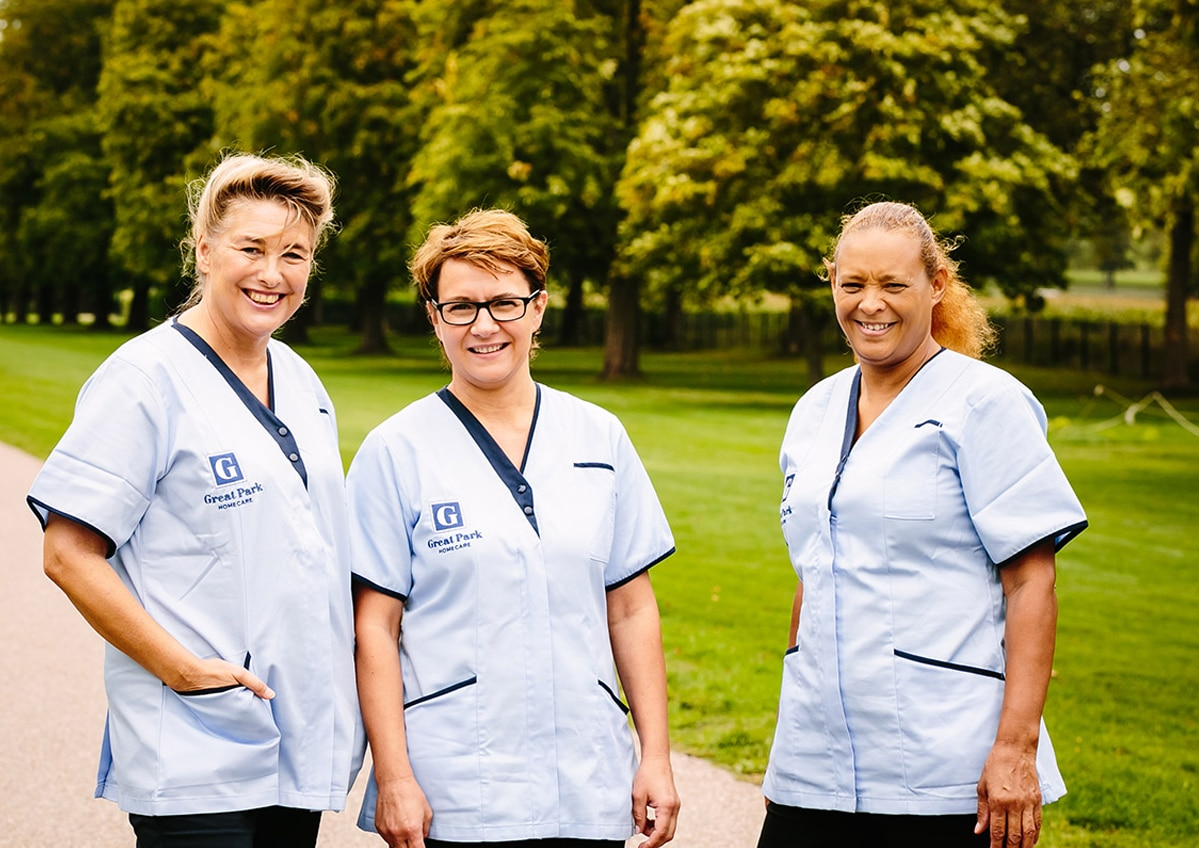 Great Park Homecare: care company branding