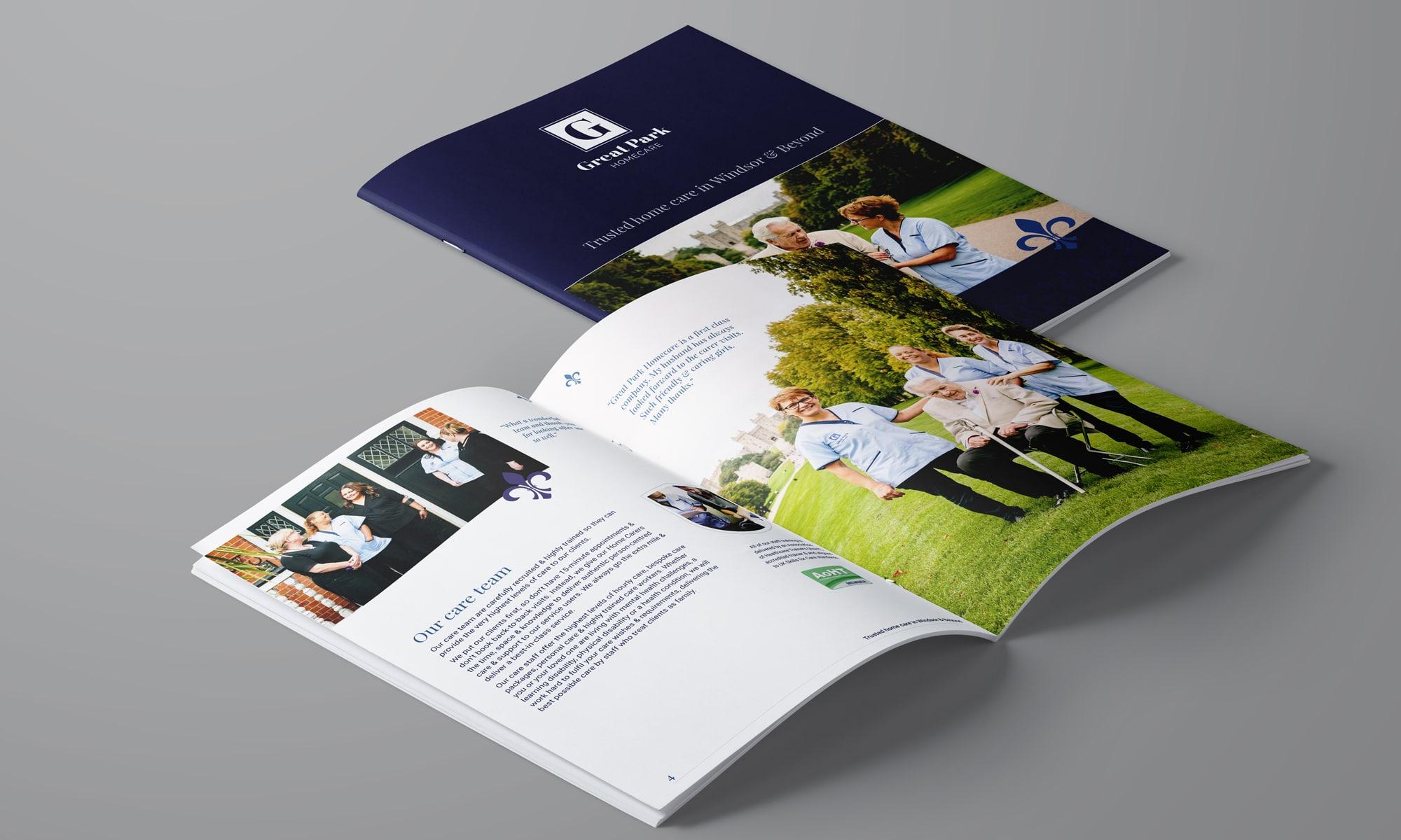 GPH: care company brochure design