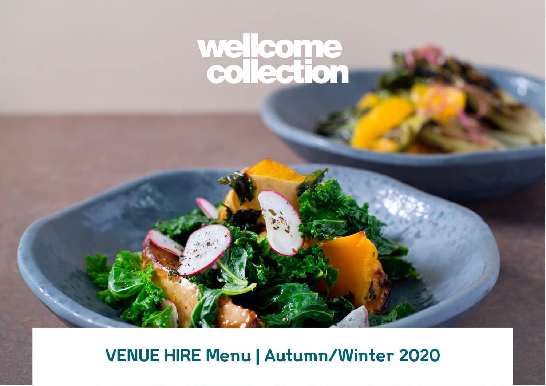 Wellcome Collection Venue Hire food menu design
